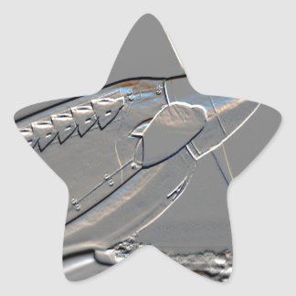 Spitfire Mk 1A aircraft embossed Star Sticker