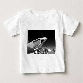 Spitfire Mk 1A aircraft in black and white Baby T-Shirt