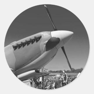 Spitfire Mk 1A Classic Round Sticker