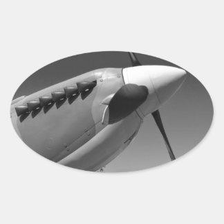Spitfire Mk 1A Oval Sticker