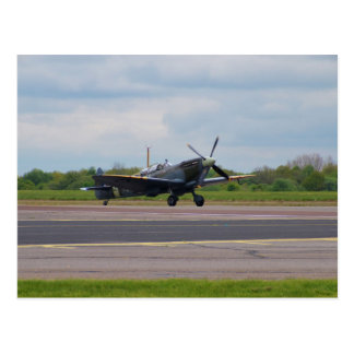 Spitfire On The Runway Postcard