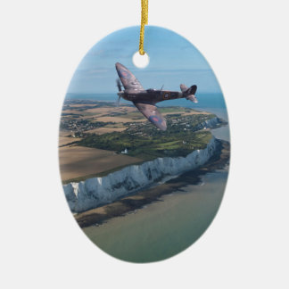 Spitfire over England Christmas Ornament