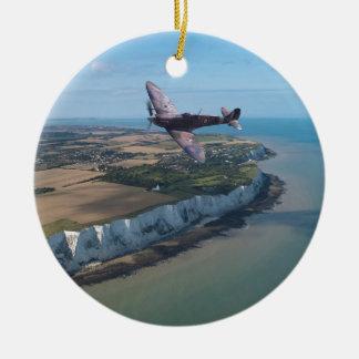 Spitfire over England Christmas Ornament