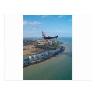 Spitfire over England Postcard