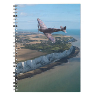 Spitfire over England Spiral Notebook