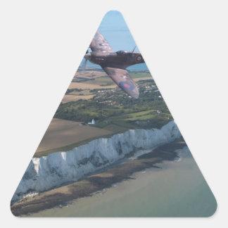 Spitfire over England Triangle Sticker