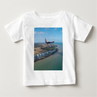 Spitfire over the English coast. Baby T-Shirt