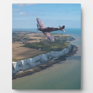 Spitfire over the English coast. Display Plaque