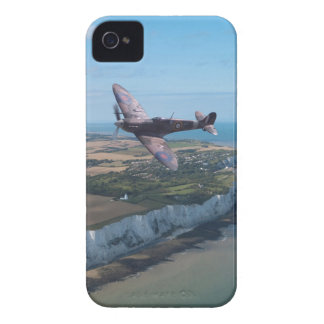 Spitfire over the English coast. iPhone 4 Case-Mate Case