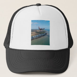 Spitfire over the English coast. Trucker Hat