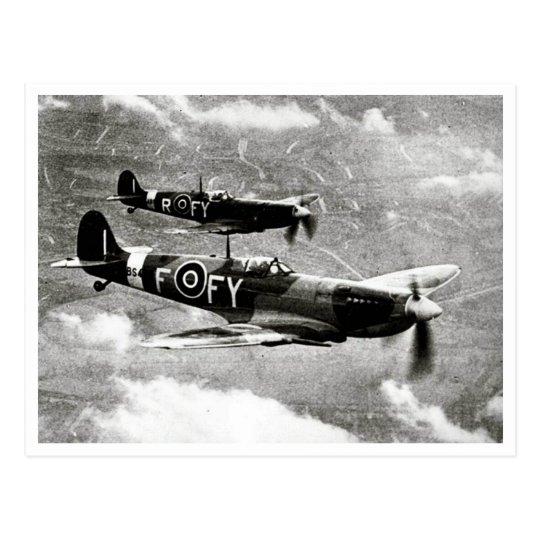 Spitfire Pair Postcard
