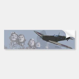 Spitfire & Pilots Bumper Sticker