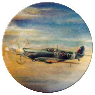 Spitfire Porcelain Plate