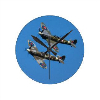 Spitfire Round Clock
