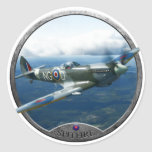 Spitfire Round Sticker