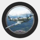 Spitfire Round Stickers