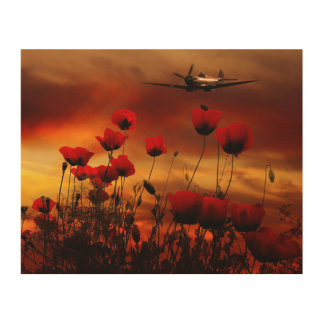 Spitfire Salute Wood Wall Art