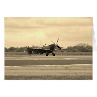 Spitfire Sepiatone Greeting Card