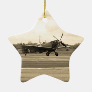 Spitfire Sepiatone Ceramic Star Decoration