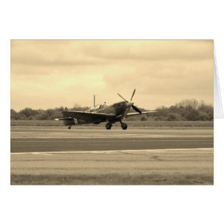 Spitfire Sepiatone Greeting Card