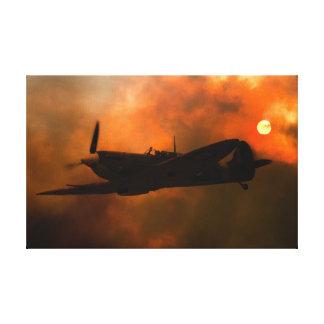 Spitfire Silhouette Canvas Print