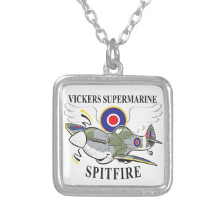 spitfire silver plated necklace