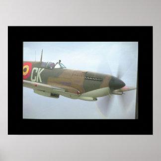 Spitfire. (spitfire;aircraft_Military Aircraft Poster