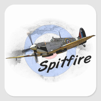 Spitfire Square Sticker