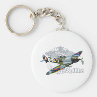 Spitfire Supermarine Basic Round Button Key Ring