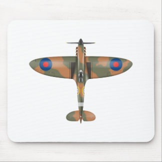 spitfire top view mouse mat