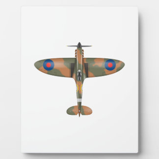 spitfire top view plaque