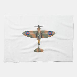 spitfire top view tea towel