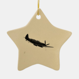 Spitfire Trainer In Flight Ceramic Star Decoration