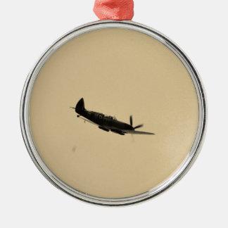 Spitfire Trainer In Flight Christmas Ornament