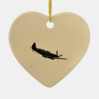 Spitfire Trainer In Flight Christmas Ornament