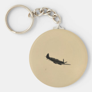 Spitfire Trainer In Flight Key Ring