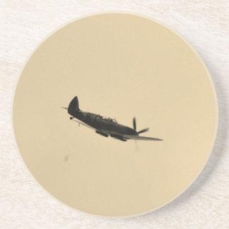 Spitfire Trainer In Flight Sandstone Coaster