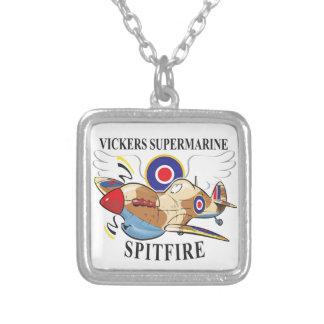 spitfire tropical version square pendant necklace