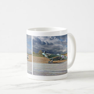 Spitfire Under Storm Clouds Coffee Mug