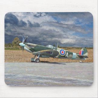 Spitfire Under Storm Clouds Mouse Mat