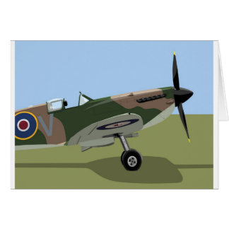Spitfire WW2 Fighter Card