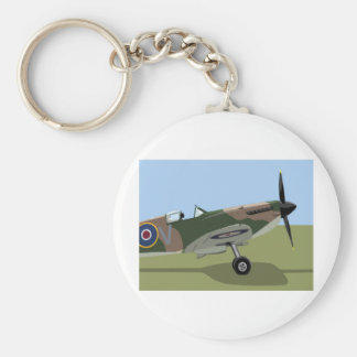 Spitfire WW2 Fighter Key Ring