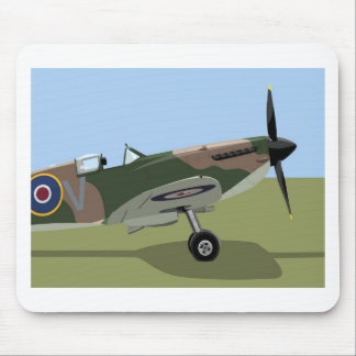 Spitfire WW2 Fighter Mouse Mat