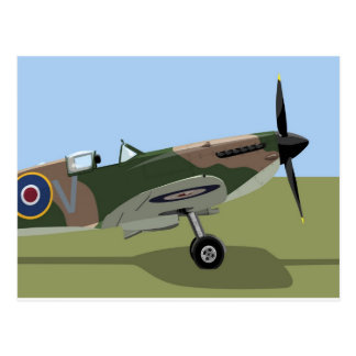 Spitfire WW2 Fighter Postcard