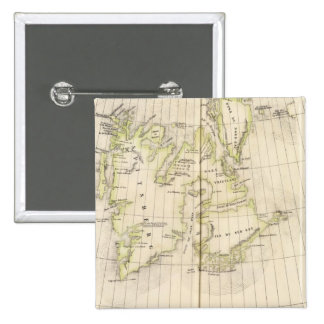 Spitsbergen, Norway Map 15 Cm Square Badge