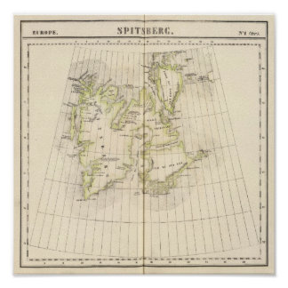 Spitsbergen, Norway Map Poster
