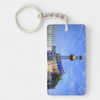 Spittelau waste incineration plant Double-Sided rectangular acrylic key ring