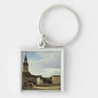 Spittelmarkt Silver-Colored Square Key Ring
