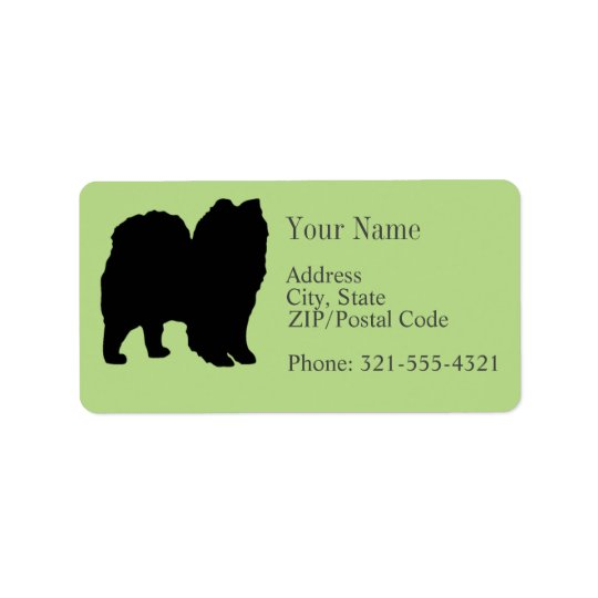 Spitz Silhouette Address Label