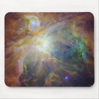 Spitzer and Hubble Create Colorful Masterpiece Mouse Pad